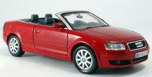 audi a4 convertible 2004 red die cast model motormax 73148. Black Bedroom Furniture Sets. Home Design Ideas