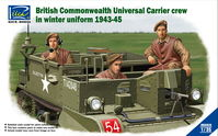 British & Commonwealth Universal Carrier crew in winter uniform 1943-1945