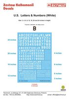 U.S. Letters & Numbers white