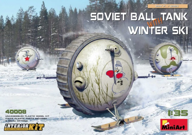Soviet Ball Tank with Winter Ski with Interior Kit - Image 1
