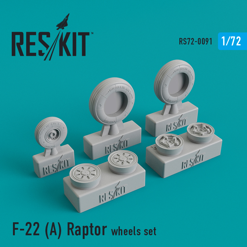 F-22 (A) Raptor wheels set - Image 1