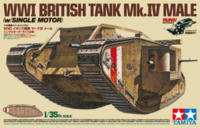 WWI British Tank Mk.IV Male - w/Single Motor/British Figures