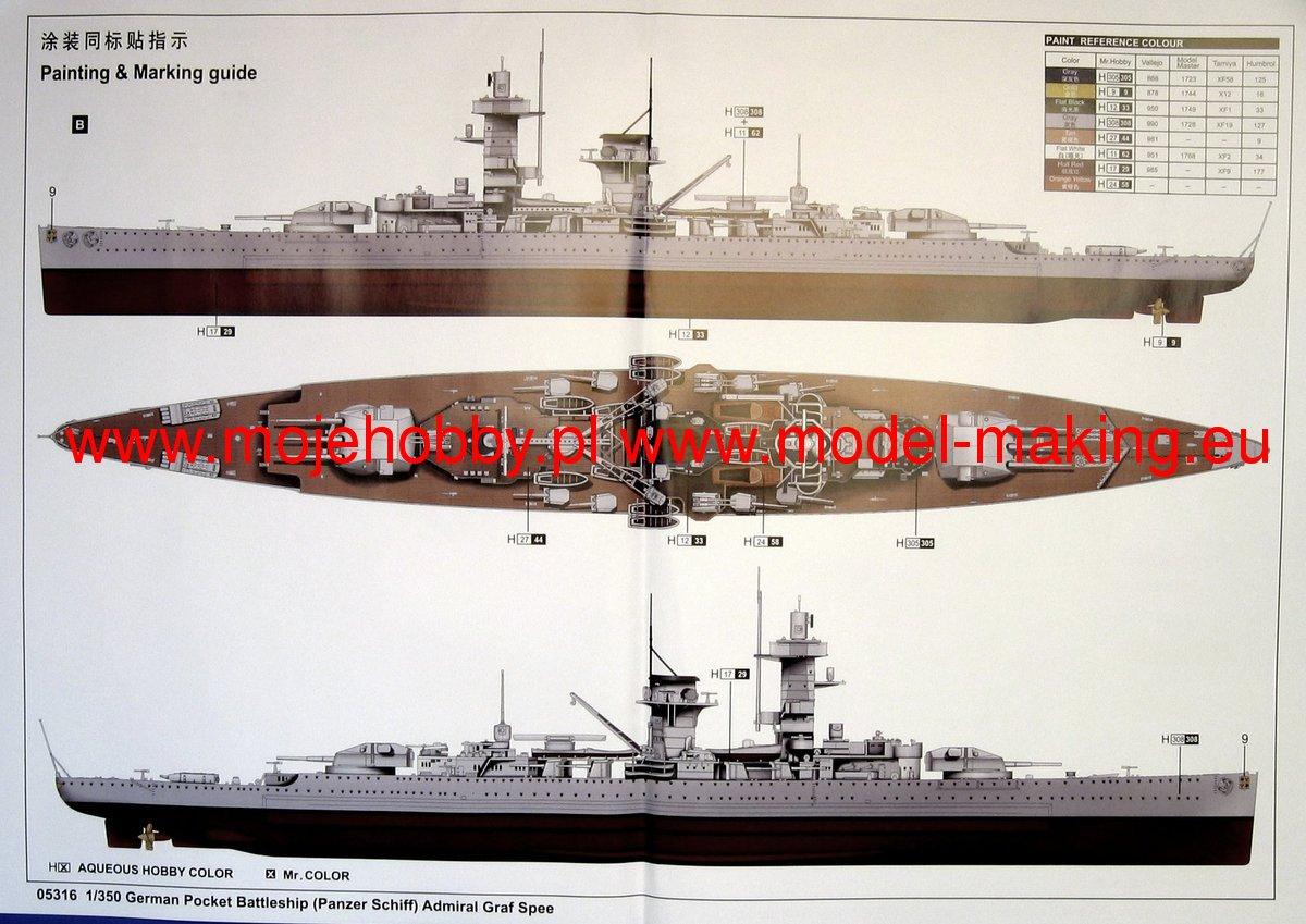 Toys & Games Trumpeter 1/350 05316 German Admiral Graf Spee