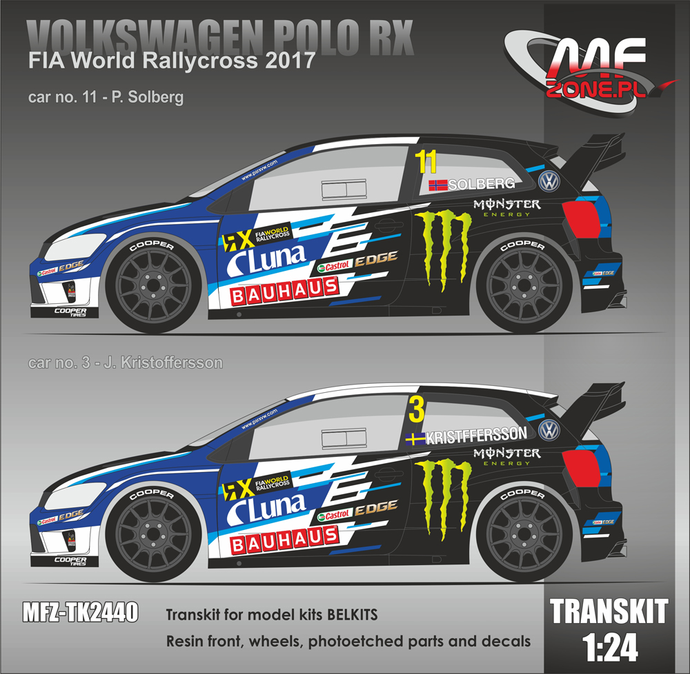Volkswagen Polo RallyCross 2017 Solberg, Kristoffersson - Image 1