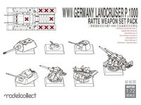 Landcruiser P.1000 Ratte Weapon Set Pack WWII Germany
