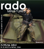 Achtung Jabo ! W-SS NCO w/ MP40,1944 - Image 1