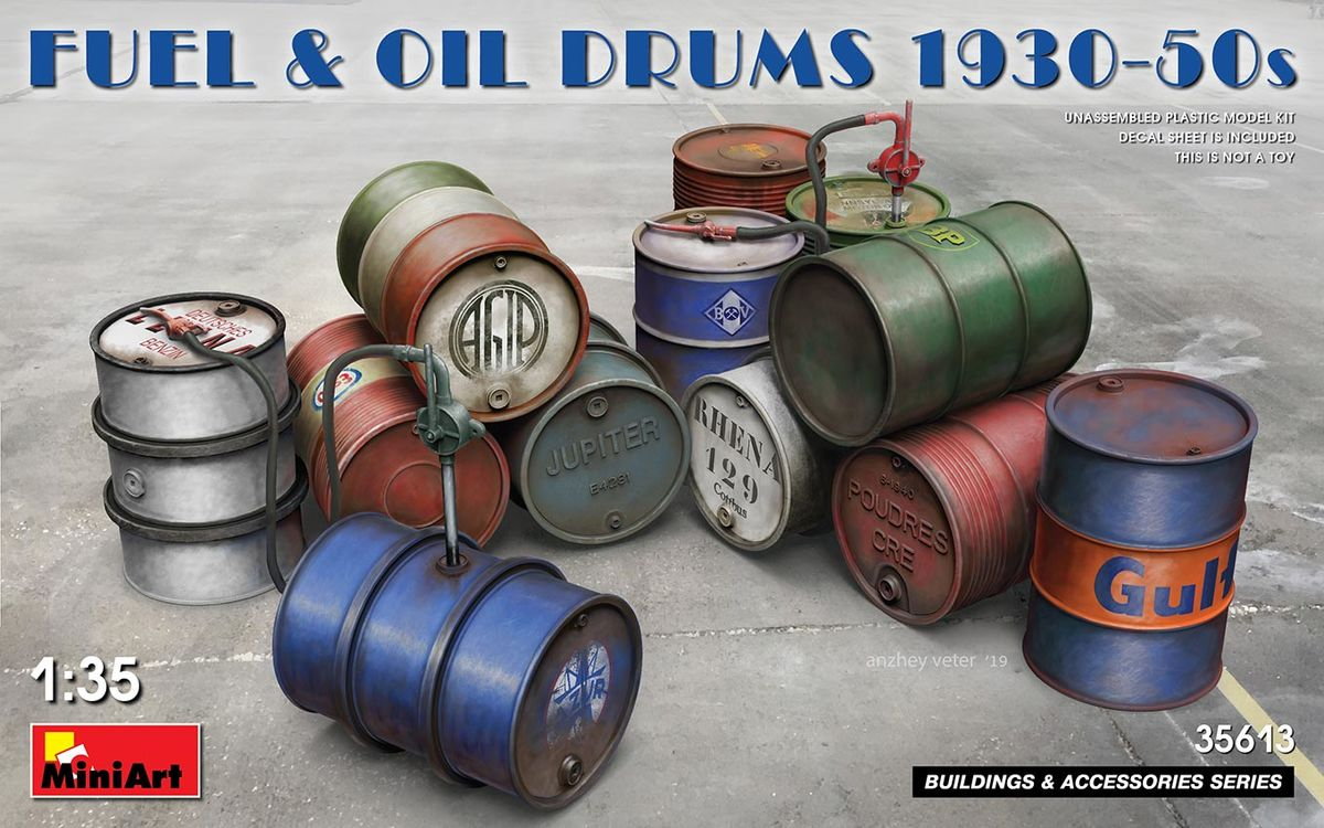 Fuel & Oil Drums 1930-50s - Image 1