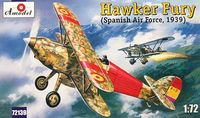 British Biplane Hawker Fury Spanish Republican Air Force 1939