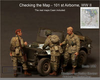 """Checking the Map - 101st Airborne, WWII"""