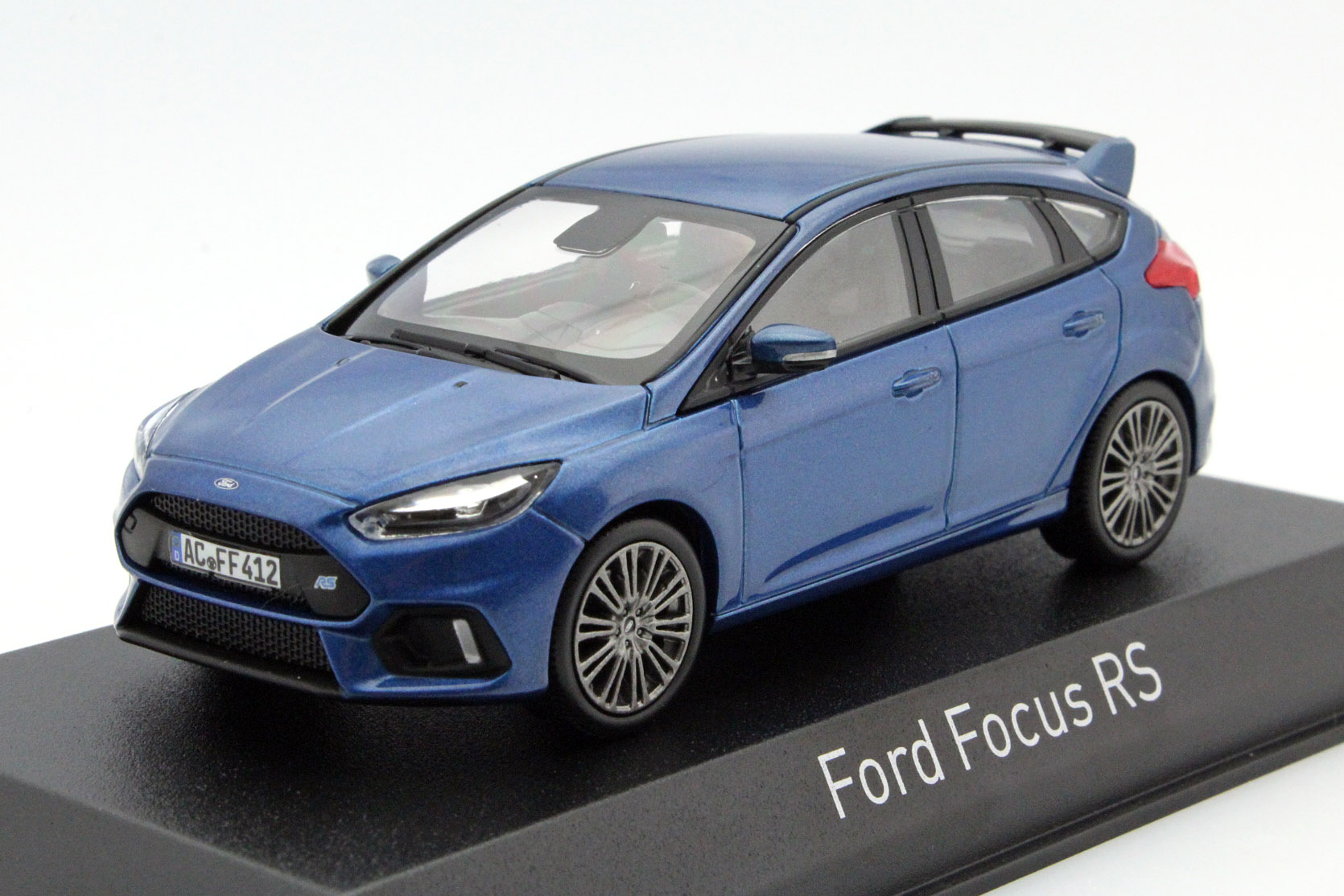 ford focus rs 2016 blue metallic die cast model norev 270544. Black Bedroom Furniture Sets. Home Design Ideas