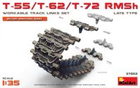 T-55/T-62/T-72 RMSh WORKABLE TRACK LINKS SET. LATE TYPE