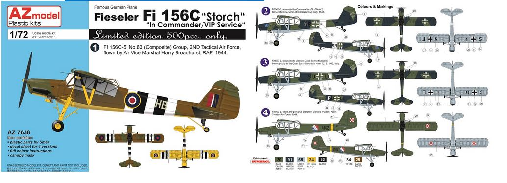 Fi-156C Storch In Commander/VIP service - Image 1