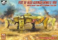 Fist of War German WWII E-100 Super Heavy Tank with 380mm Stug Gun