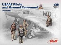USAAF Pilots and Ground Crew WW2