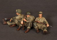 U.S. Army Airbornes and Sgt. on rest 3 figures - Image 1
